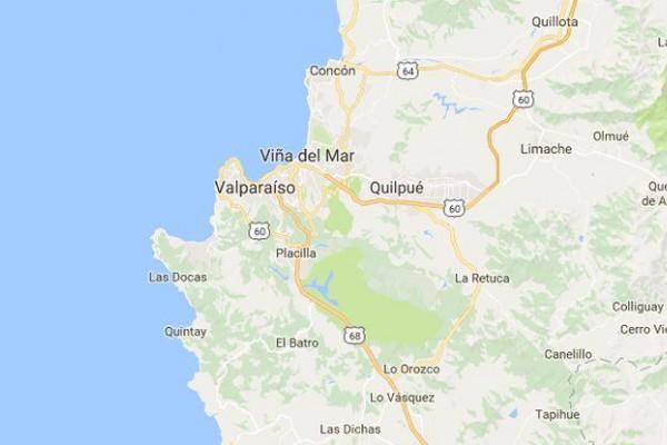 El epicentro se situó a 25 km al oeste de Valparaíso.